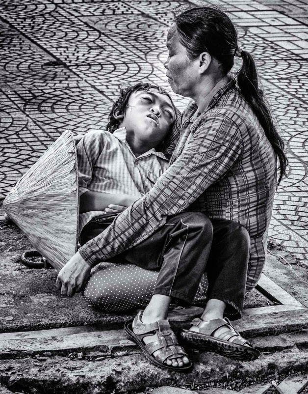 Image of mother and child, Saigon.
