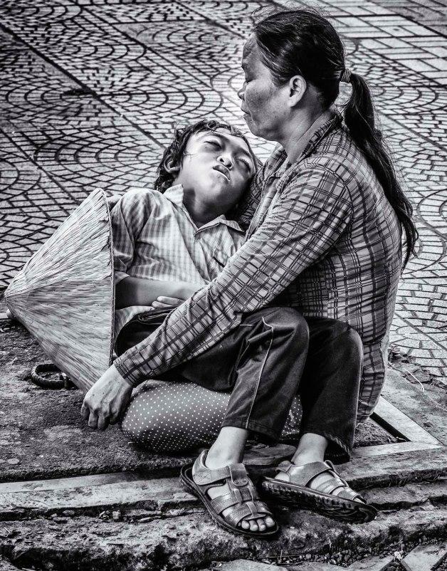 Image of mother and child, Saigon.