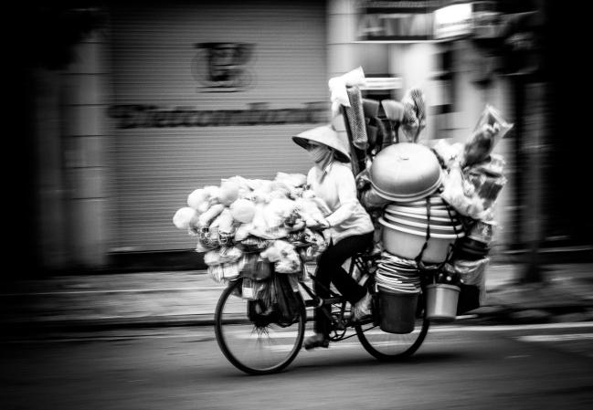 Street vendor. Hanoi, 2012.