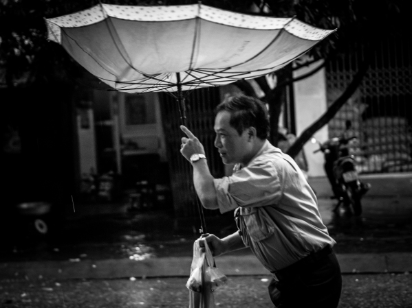 Rain catcher Bac Ha. Vietnam, 2012.