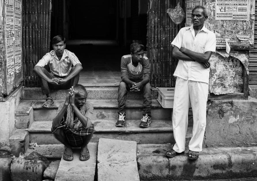 Four men Varanasi India